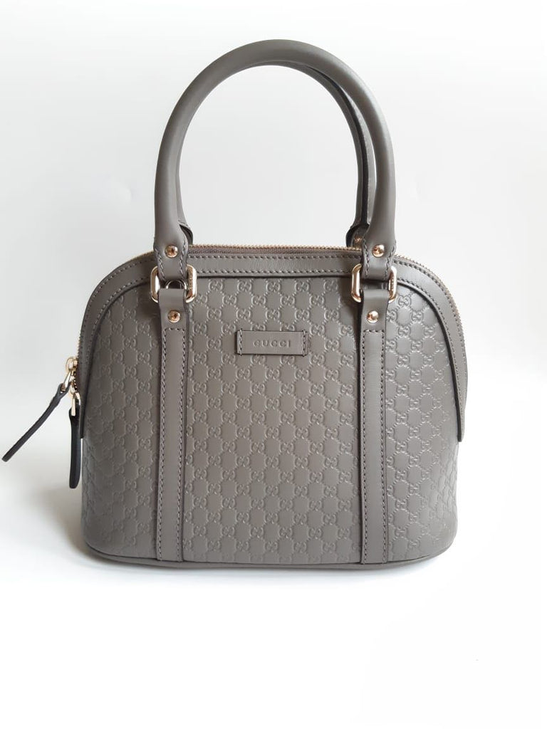 Gucci 449654 Alma Small Signature in Grey