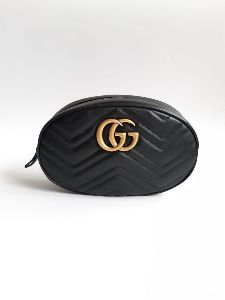 Gucci GG Marmont‎ 476434 belt bag Large Nextblack chevron leather
