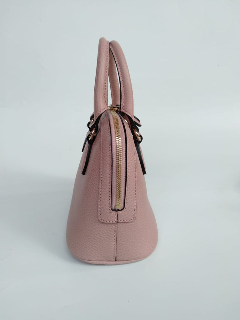 8798d2f5 Gucci Mini Dome Leather Satchel Pink