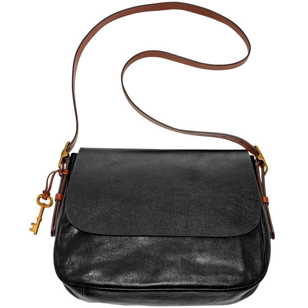 Fossil ZB6760001 Harper Large Saddle Crossbody Black