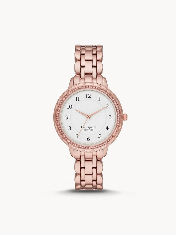 Kate Spade KSW1552 New York Morningside Scallop Three-hand Rose Gold-tone Stainless Steel Watch