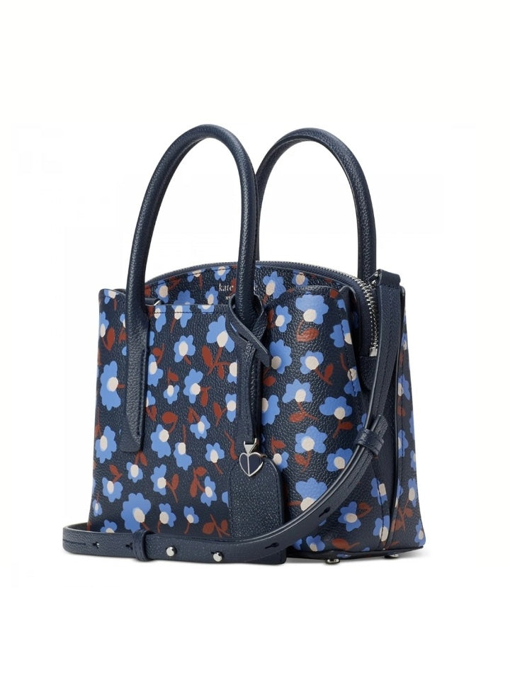 Kate Spade Pxrub028 Margaux Mini Satchel Party Floral Blazerblue Multi