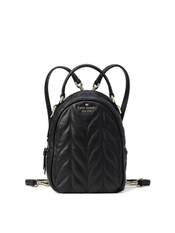 Kate Spade Wkru6164 Briar Lane Quilted Mini Convertible Backpack Black