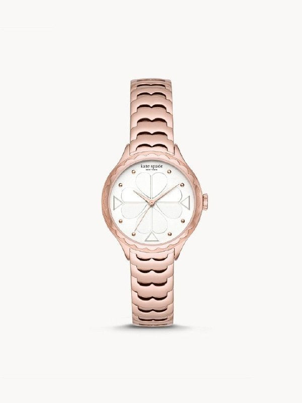 Kate Spade KSW1504 New York Rosebank Three-hand Scallop Rose Gold-tone Stainless Steel Watch