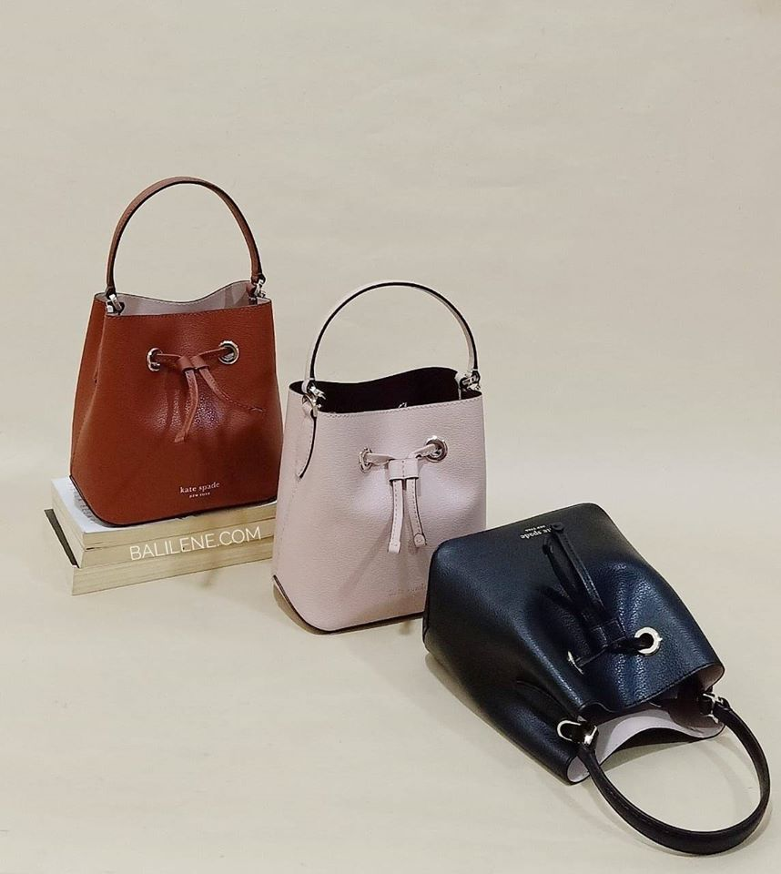 Kate Spade Wkru5857 Eva Small Bucket Chesnut Butter