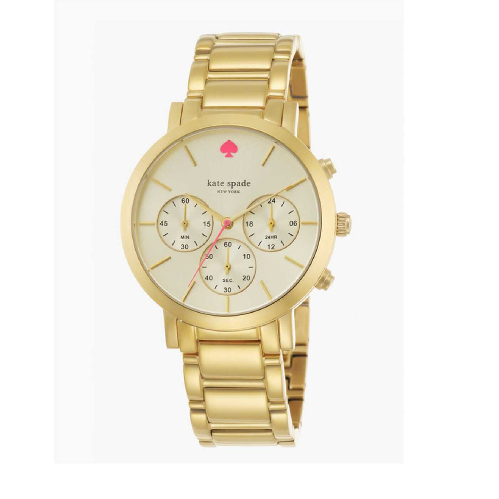 Kate Spade 1YRU0715 Gramercy Grand Gold Tone Watch