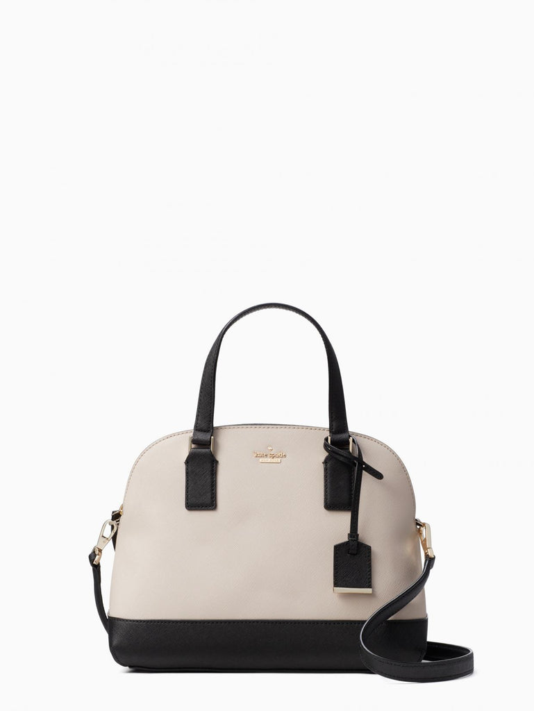 Kate Spade Pxru8262 Cameron Street Lottie Satchel Bag Black Tusk