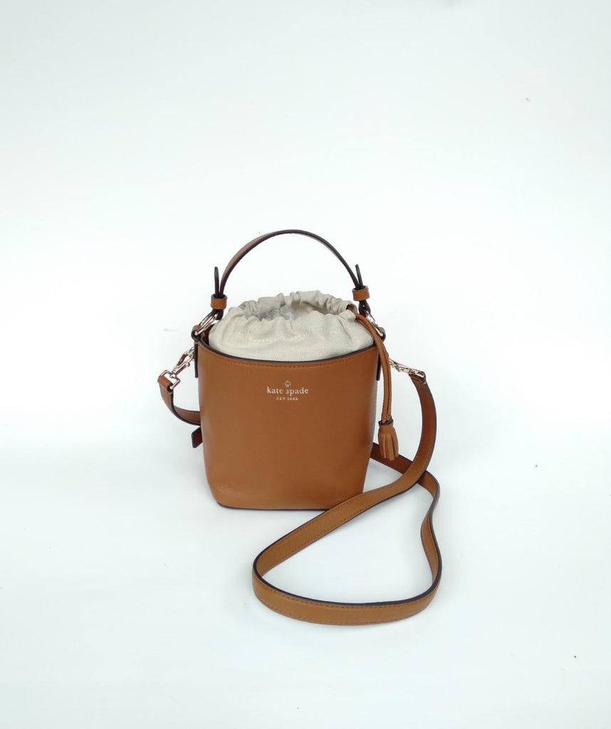 Kate Spade Wkru5773 Hayes Street Pippa Top Handle Bucket Brown