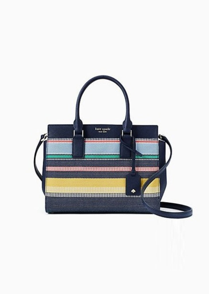Kate Spade Wkru5931 Cameron Medium Satchel Stripe Multi