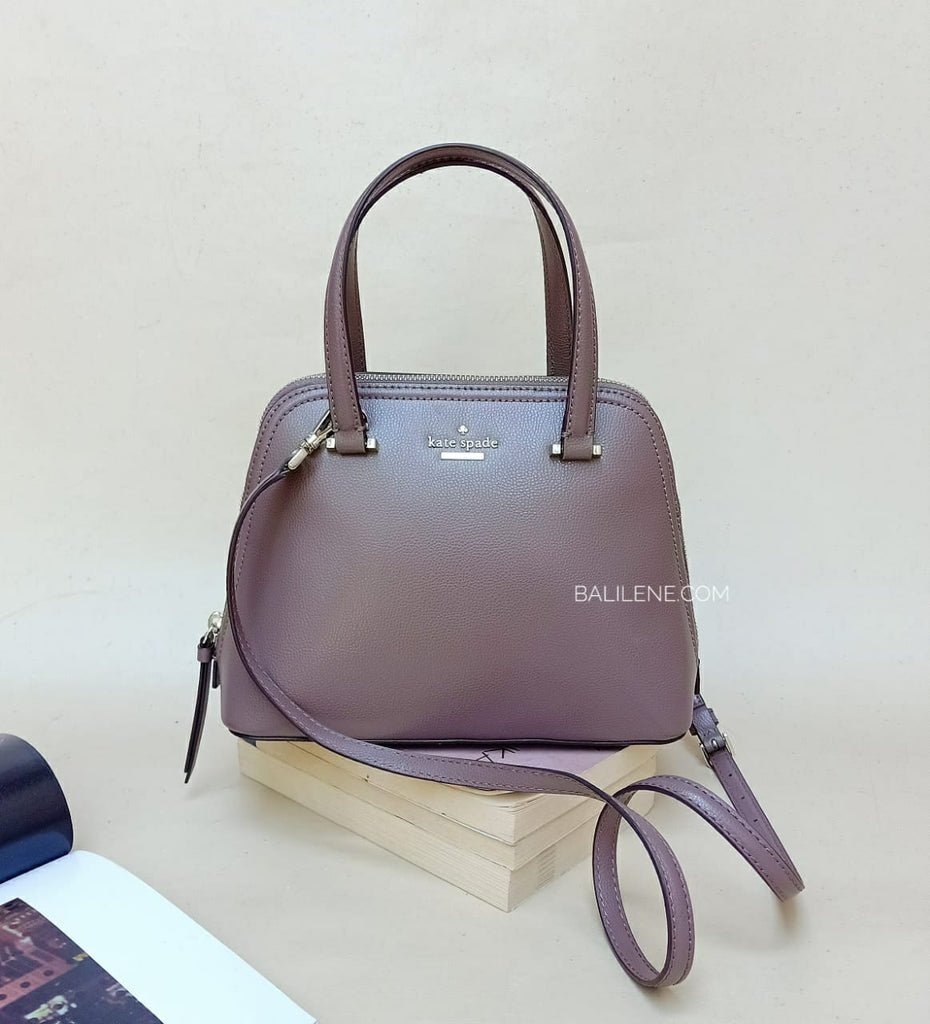 Kate Spade Wkru6058 Small Dome Satchel Patterson Drive Dusk Gray Leather