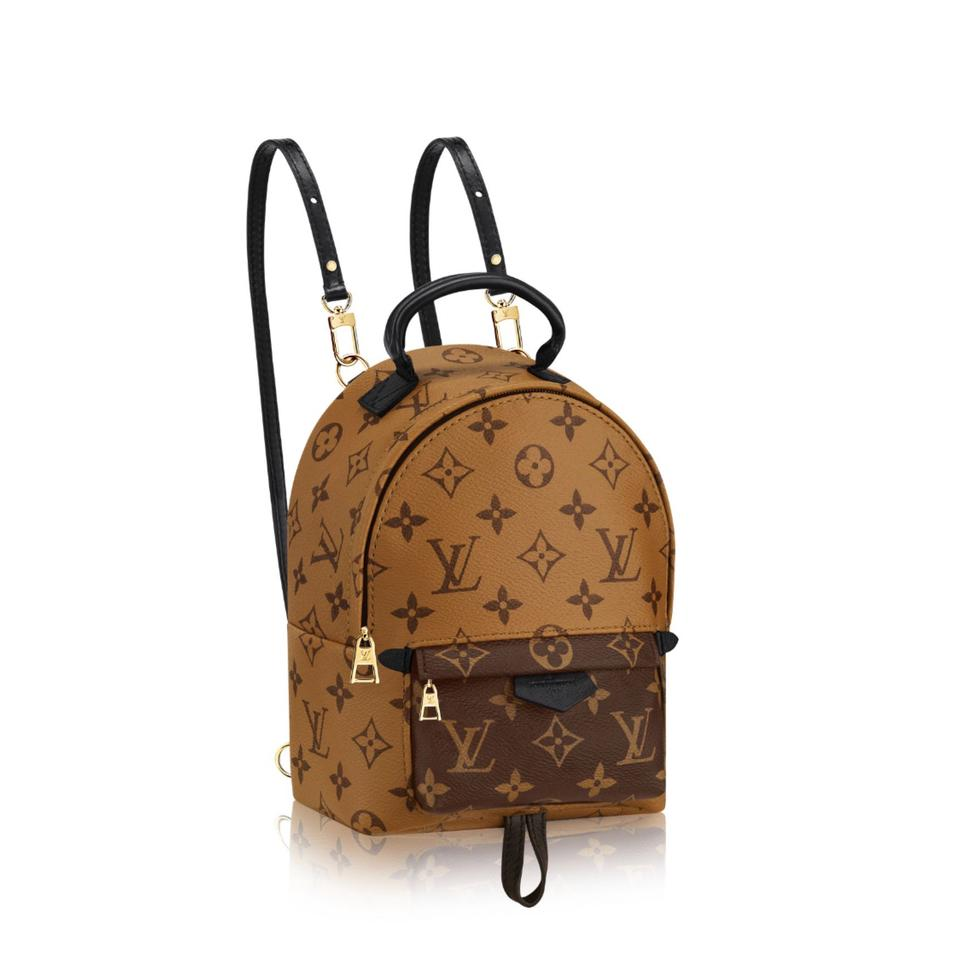 Louis Vuitton M42411 Palm Springs Backpack Mini Monogram Reverse Canvas