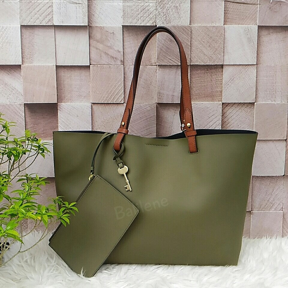 Fossil ZB6817382 Rachel Rosemary Leather Tote Bag