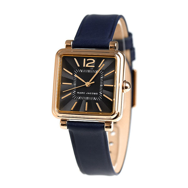Marc Jacobs Mj1523 Vic Black Dial Navy Leather Ladies Watch