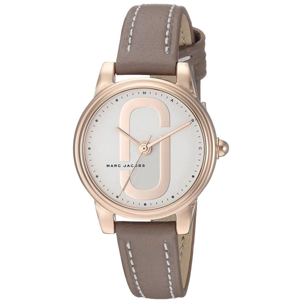 Marc Jacobs Mj1581 Womens Corie Rosegold Case Leather Watch
