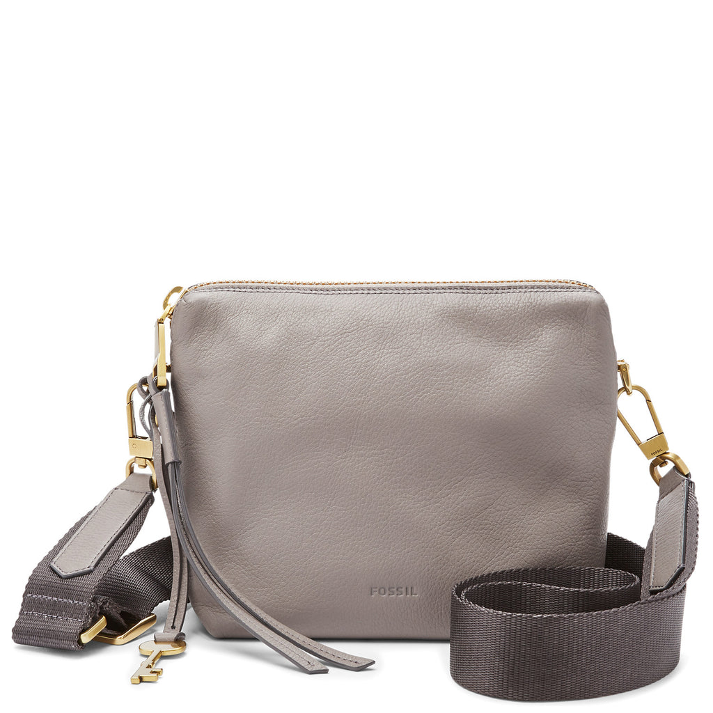 Fossil ZB7187020 Maya Hobo Crossbody Grey