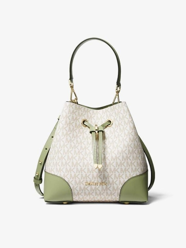 Michael Kors MK30F9GZ5L1B Mercer Gallery Small Convertible Bucket Shoulder Light Sage