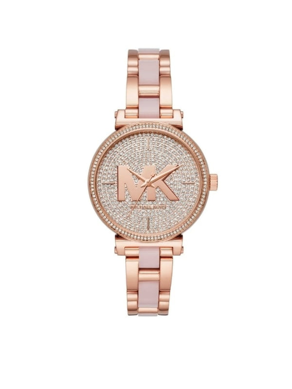 Michael Kors Mk4336 Sofie Quartz Crystal Rose Gold-tone Dial Ladies Watch