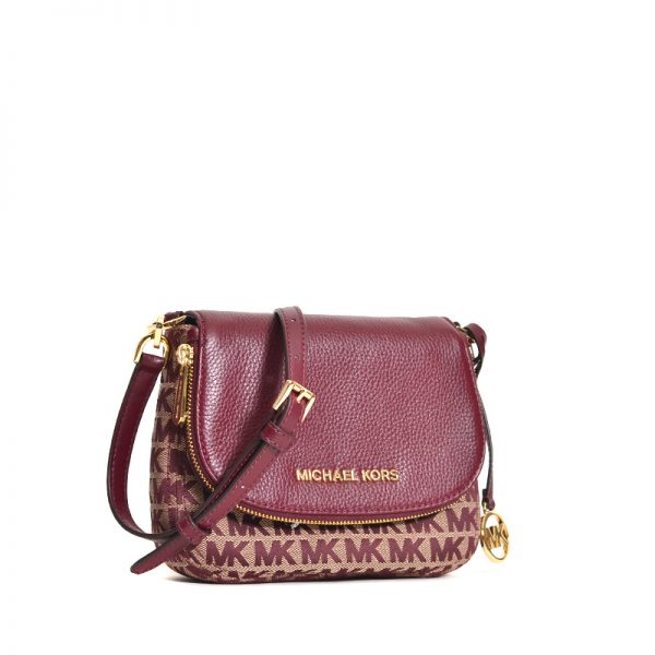 Michael Kors 35f9gbfc1j  Bedford Small Flap Crossbody Oxblood