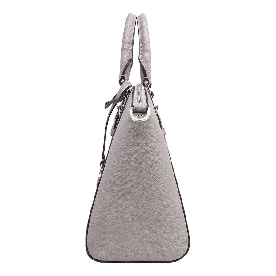 Michael Kors 35s8sc6m2l Ciara Messenger Medium Leather Pearl Gray