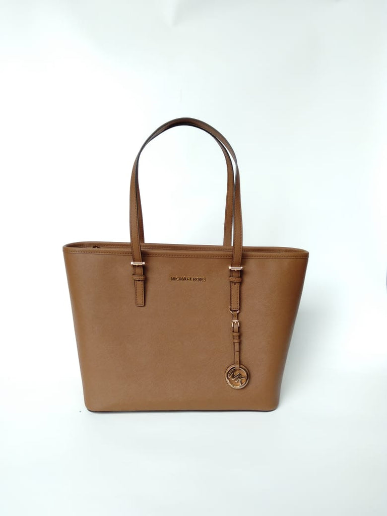 Michael Kors 38h8gtvt9l Jet Set Travel Saffiano Leather Tote Luggage