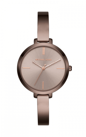 Michael Kors Mk3736 Rose Sable Brown Bangle Watch