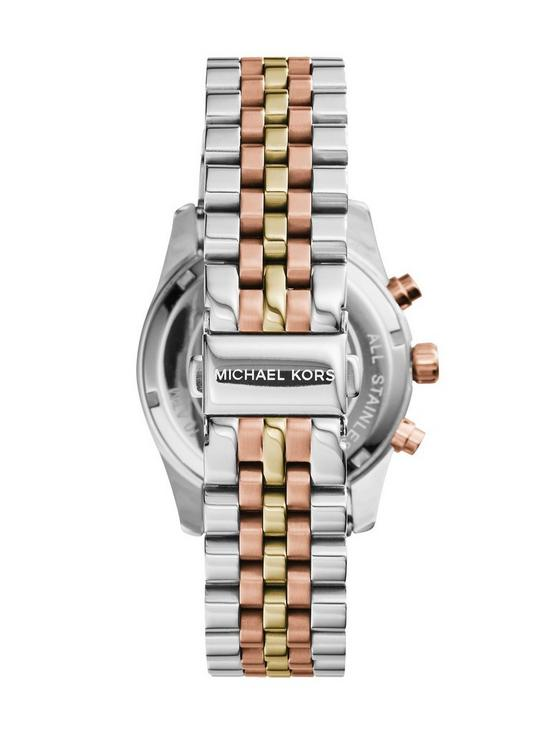 Michael Kors MK5735 Lexington Tri-tone Rose Gold Chronograph Women Watch