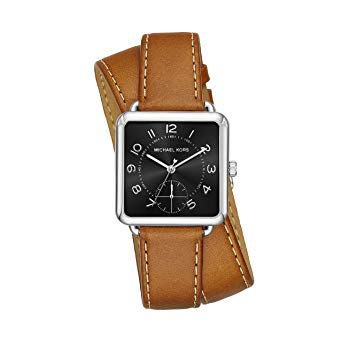 Michael Kors Mk2676 Brenner Black Dial Tan Leather Watch
