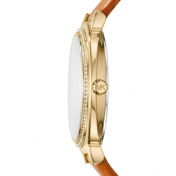 Michael Kors Mk2712  Womens Cinthia Gold-tone And Brown Leather Watch