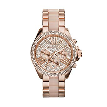 Michael Kors Mk6096 Wren Crystal Pave Dial Chronograph Ladies Watch
