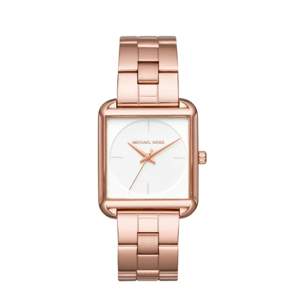 Michael Kors Mk3645 Women Lake Rosegold Three Hand Watch