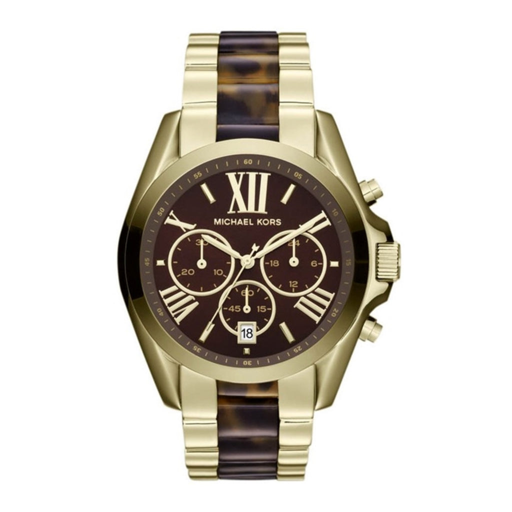 Michael Kors MK5696 Ladies Gold Tortoise Shell Bradshaw Watch