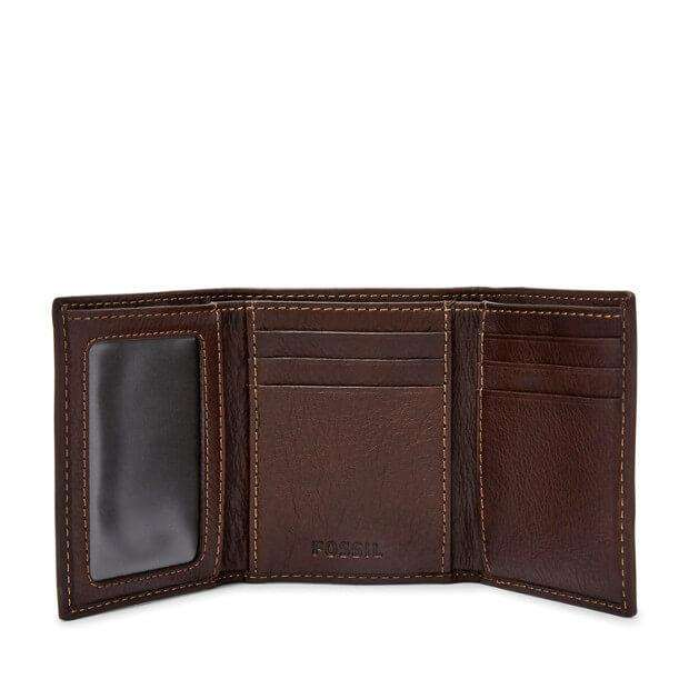 Fossil SML1395 Lufkin Three-Fold Dark Brown
