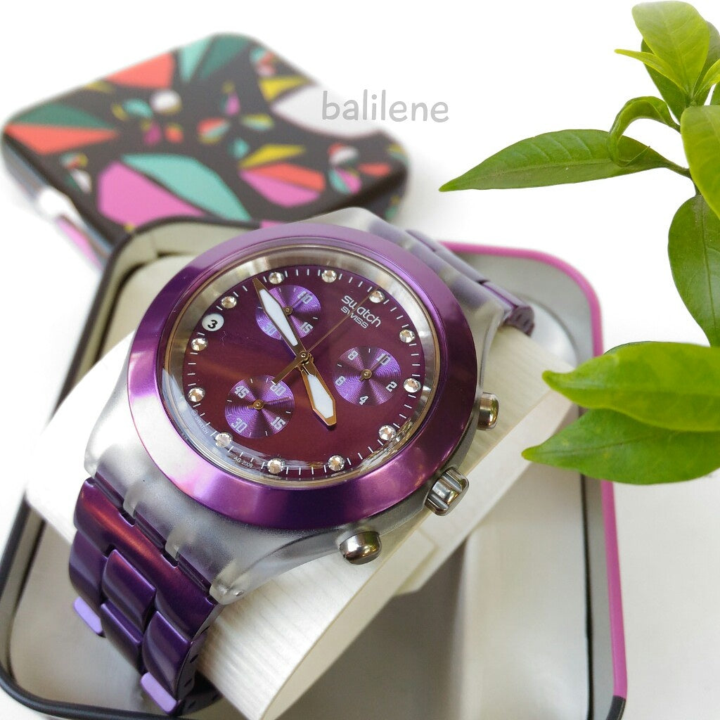 Swatch Full Blooded Blueberry Unisex Watch