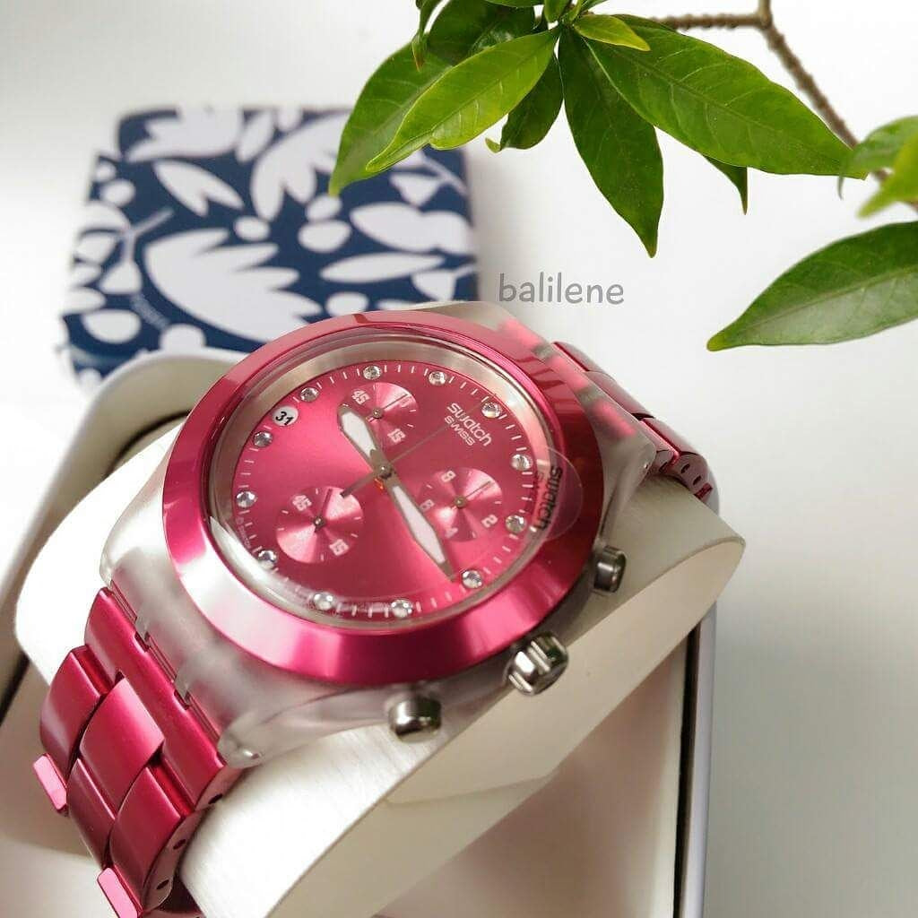 Swatch Full Blooded Raspberry Unisex Watch