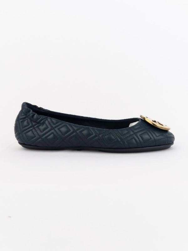 Tory Burch 50736 Quilted Minie Ink Navy Size 6