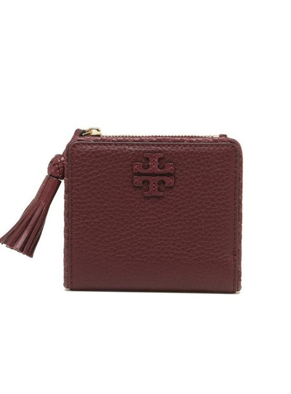 Tory Burch 52722 Taylor Mini Wallet Imperial Garnet