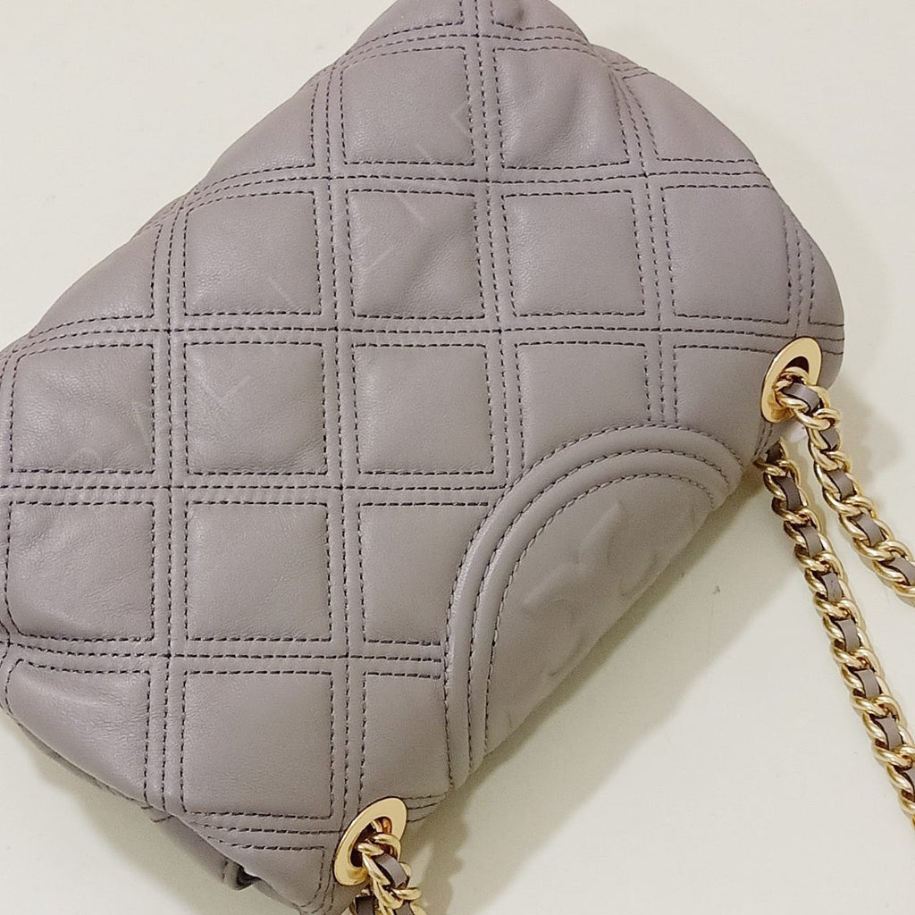 Tory Burch 58102 Fleming Soft Small Convertible Shoulder Gray Heron