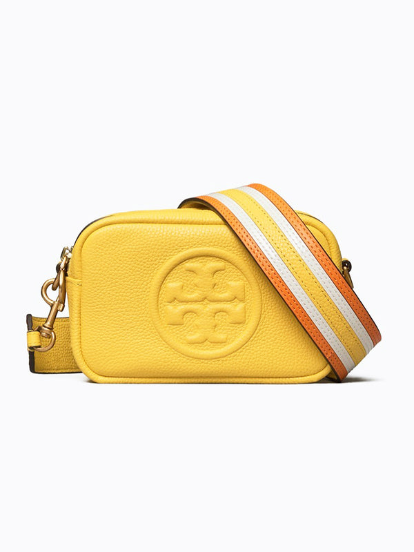 Tory Burch 64398 Perry Bombe Pieced Strap Mini Limone balilene depan