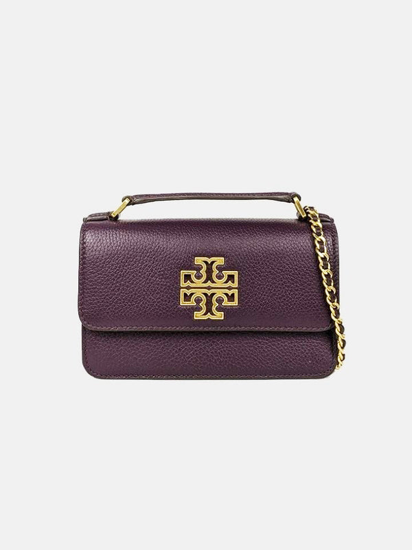 Tory Burch 73509 Britten Mini Top Handle New Plum