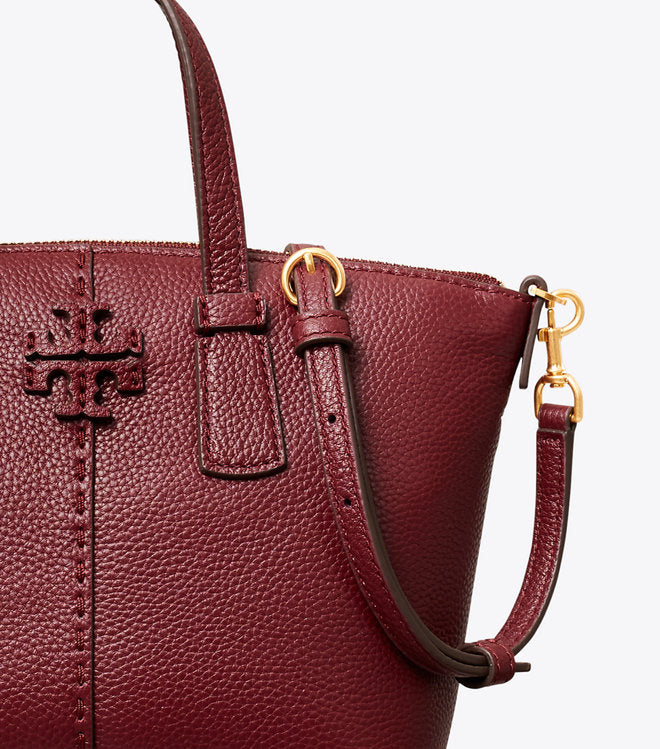 Tory Burch 74850 Mini Top Zip Satchel Claret