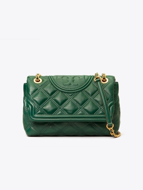 Tory Burch Fleming Soft Medium Convertible Shoulder Bag Arugula