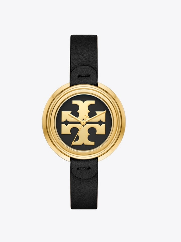 Tory Burch Tbw6204 Miller Watch Black Leather