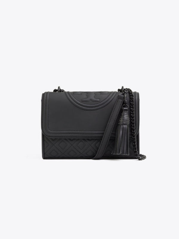 Tory Burch 39927 Fleming Matte Small Convertible Shoulder Bag Black