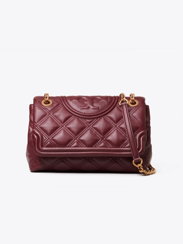 Tory Burch 56716 Fleming Soft Convertible Shoulder Bag Claret