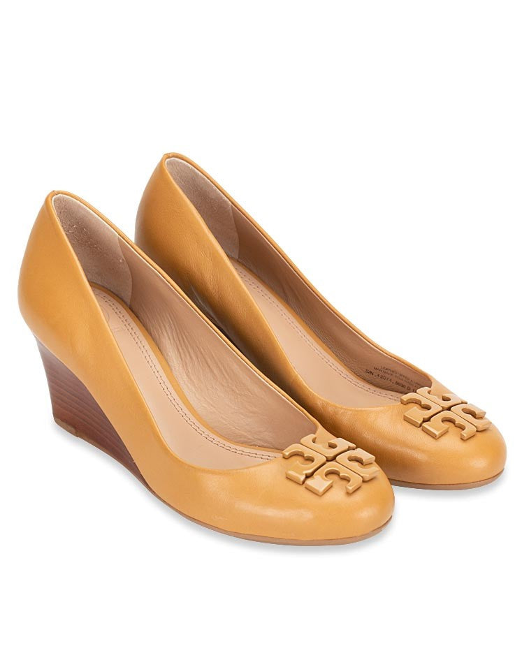 Tory Burch 43074 Lowell 2 Wedge 65mm Mestico Blond Sz 6.5
