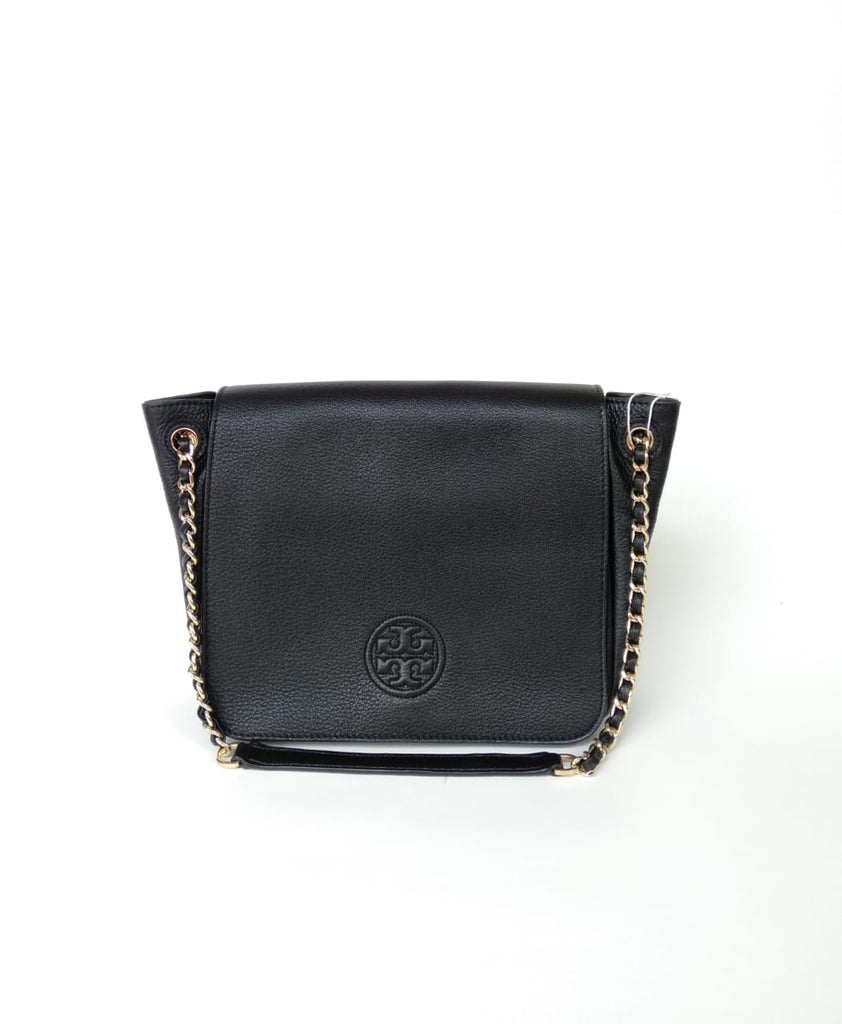 Tory Burch 46176 Bombe Small Flap Shoulder Bag Black