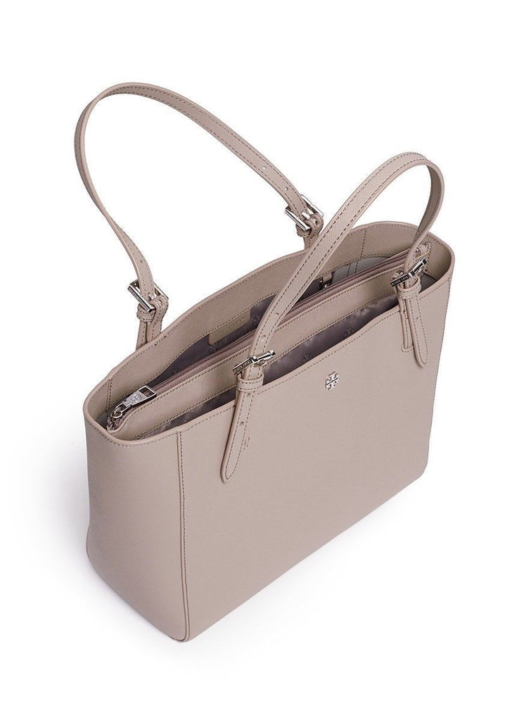 Tory Burch 49127 Emerson Small Buckle Tote Gray