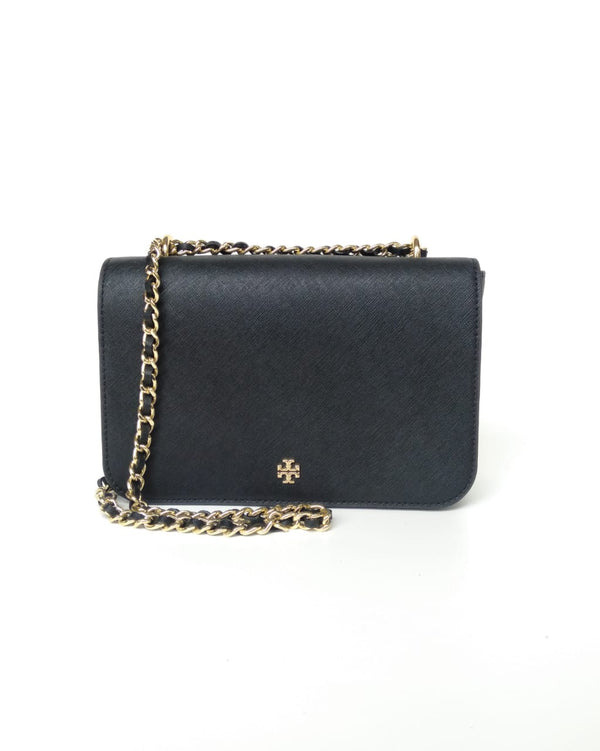 Tory Burch 52973 Emerson Adjustable Chain Shoulder Bag Black