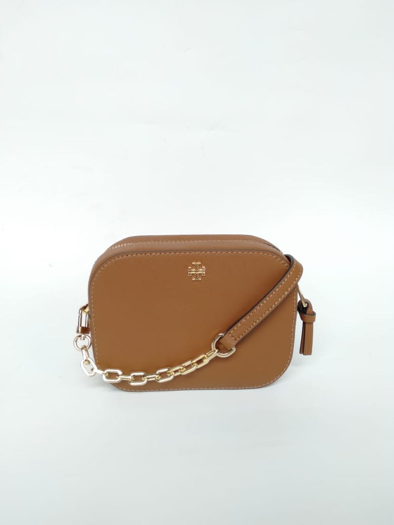 Tory Burch Emerson Round Crossbody Tigers Eye