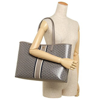 Tory Burch Gemini Tote French Gray Link Stripe